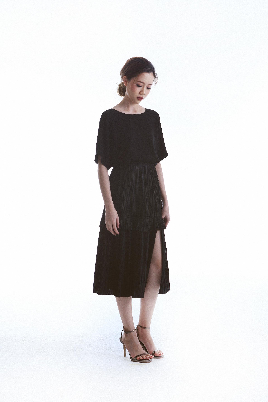 Saint Top worn with Hope Straight Skirt