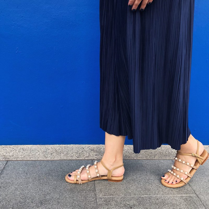 Pleats&Pearls Sandals GOLD