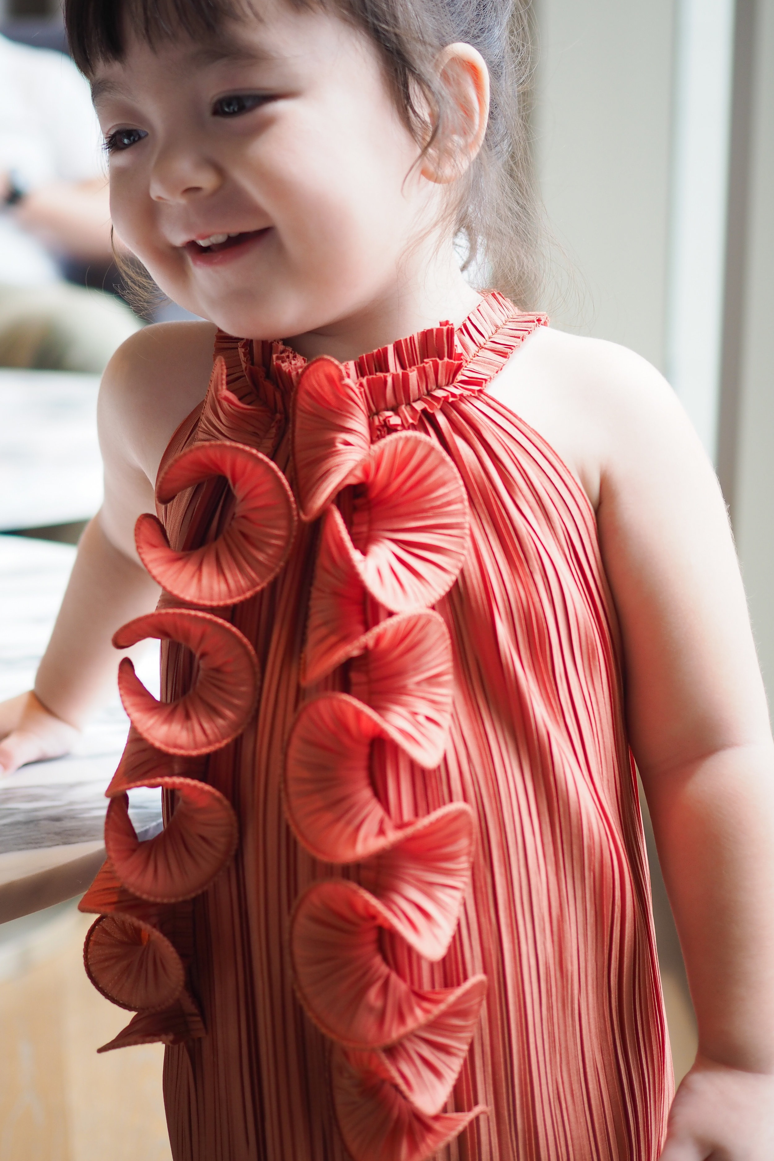 "#innitBabyPara - Get playful in this statement piece! Collar is fixed with elastic band, the stretchiness gives a relaxed fit and is fuss free for all our petite ones. Mamas can now slip on the #innitPARA dress and twin with their baby!#innitBabyPara comes in 3 sizes XS | bust 14"" length 11"", for 80cm S 