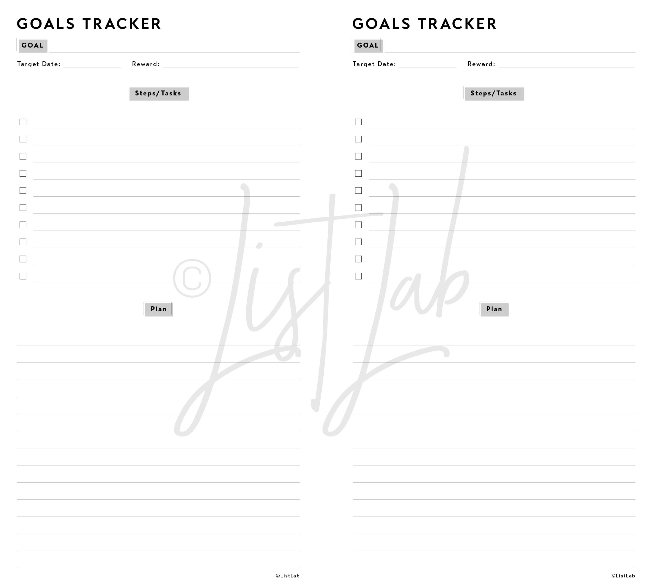 GOALS TRACKER