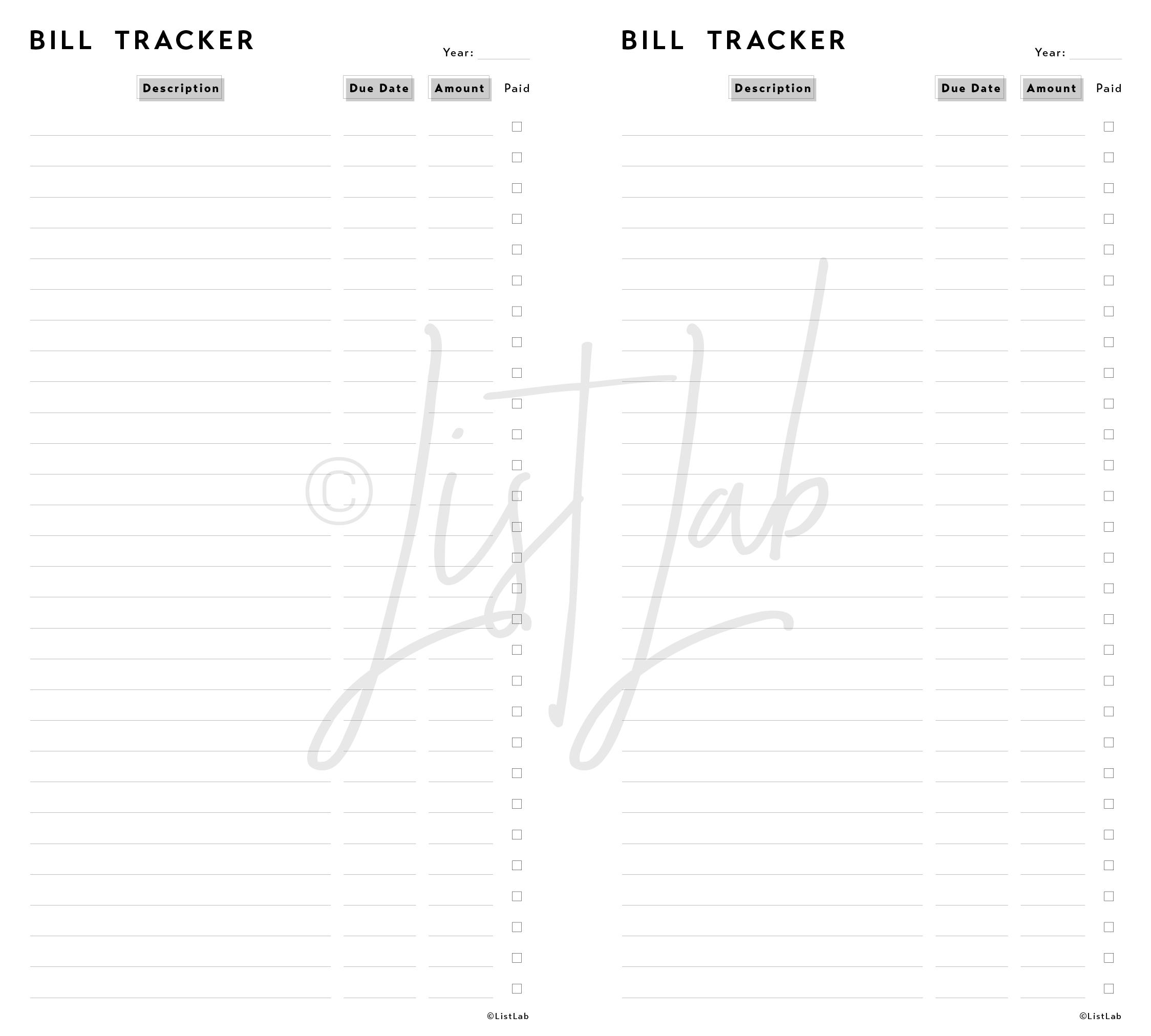 BILL TRACKER