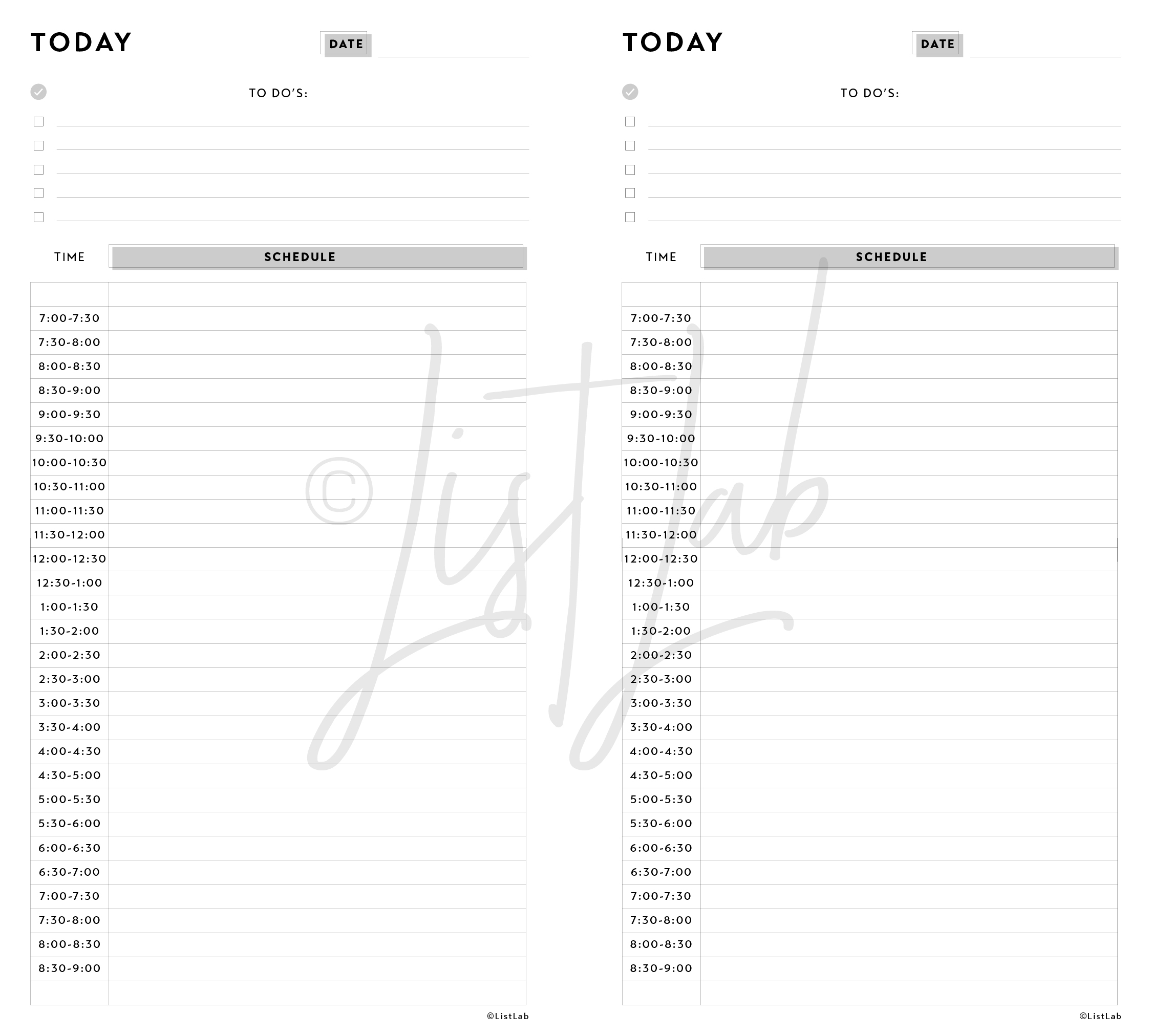 DAILY SCHEDULE (DAILY S WITH VARIATION)