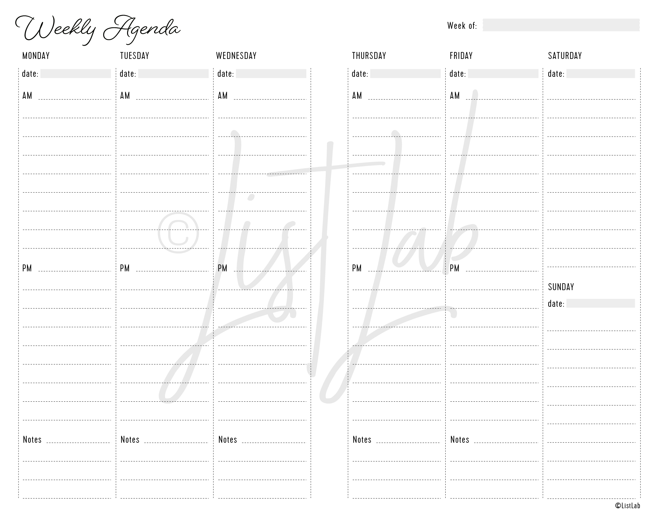 2-PAGE WEEKLY VERTICAL LINED (WO2P VL)