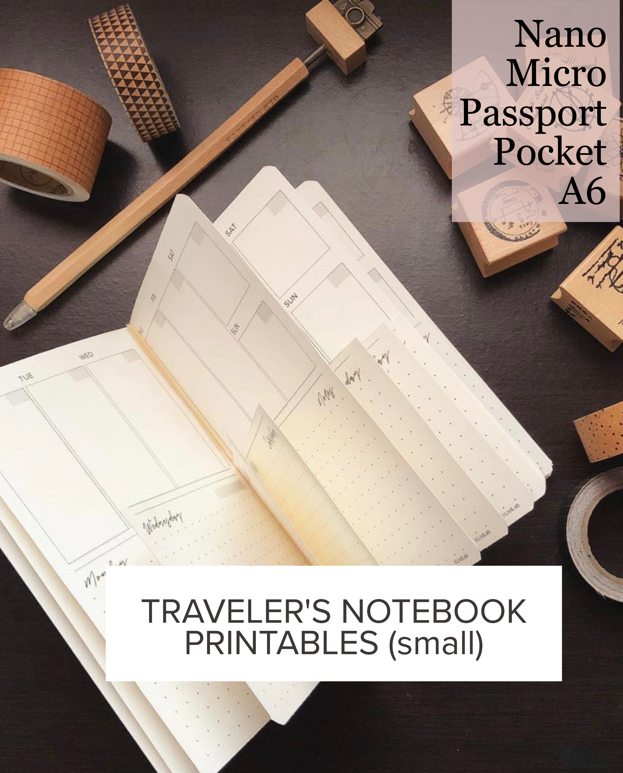PRINTABLE TRAVELER'S NOTEBOOK INSERTS (SMALL)