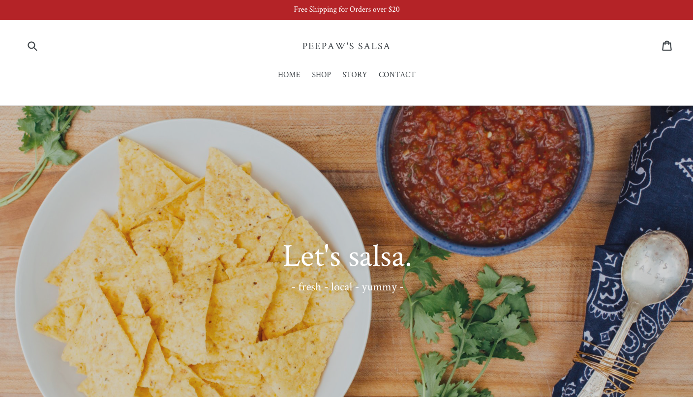 created web content + design for  PeePaws Salsa