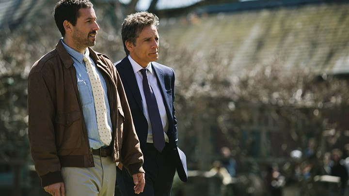 Adam Sandler and Ben Stiller in the Meyerowitz Stories. Image courtesy of Netflix.