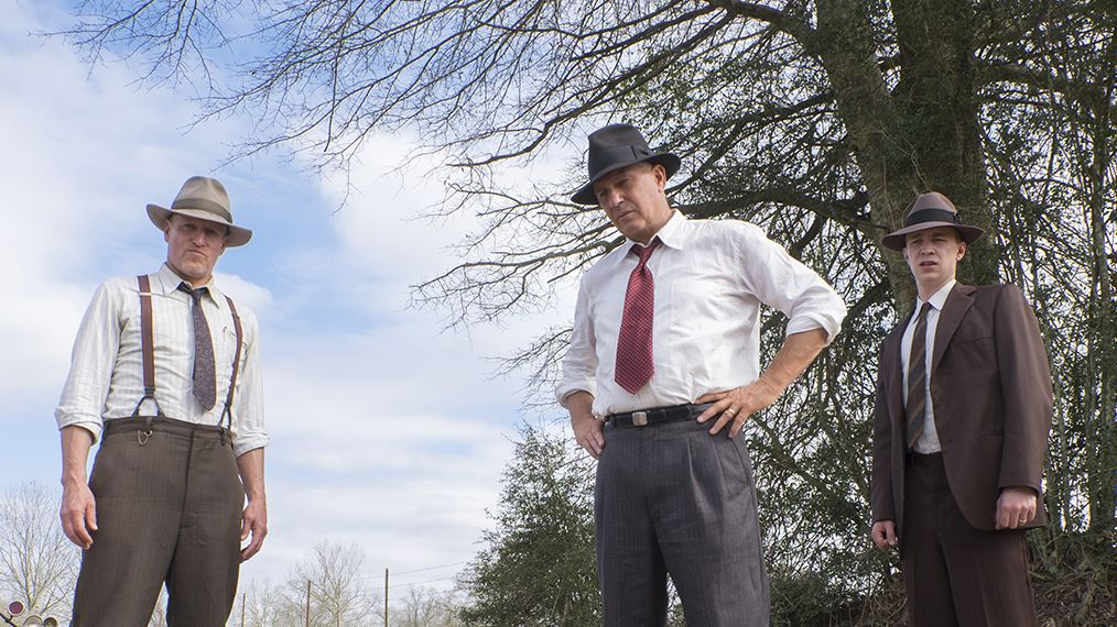 Woody Harrelson & Kevin Costner in The Highwaymen. Image courtesy of Netflix.