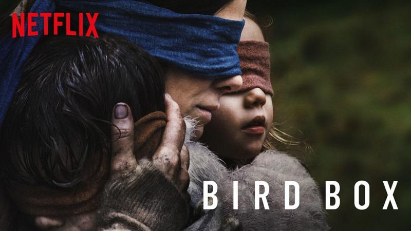 Sandra Bullock in Bird Box. Image courtesy of Netflix.