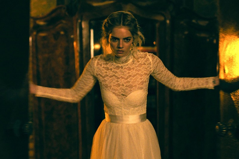 Samara Weaving in Ready or Not. Image courtesy of Walt Disney Studios Motion Pictures.