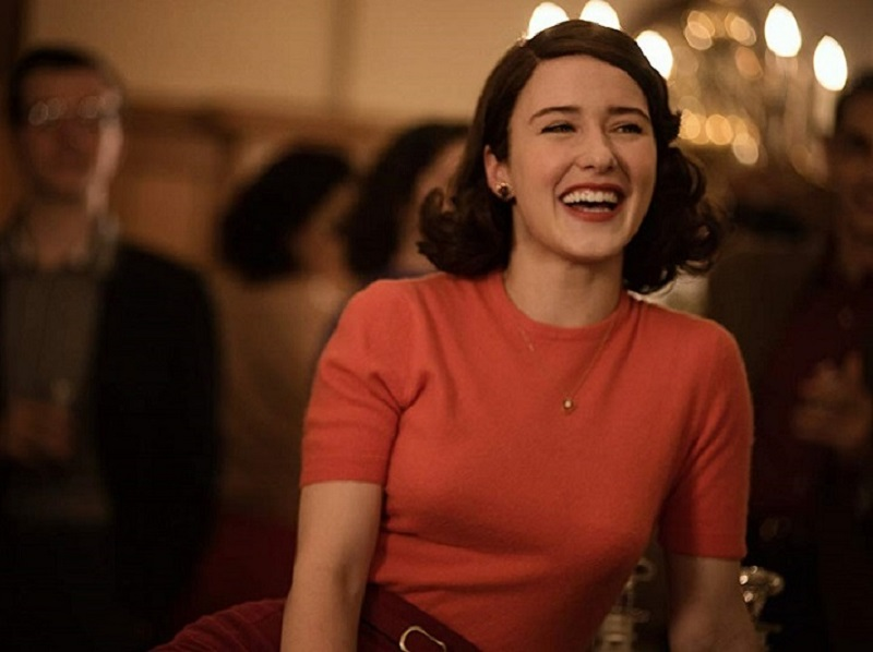 Rachel Brosnahan in The Marvelous Mrs. Maisel. Image courtesy of Amazon.