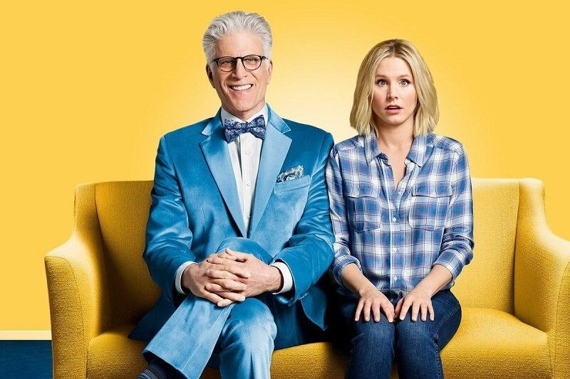 Ted Danson and Kristen Bell in The Good Place. Image courtesy of NBC.