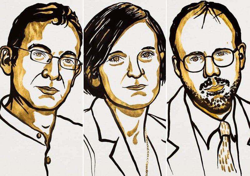 Banerjee, Duflo and Kremer, 2019 Nobel Laureates in Economics. Image courtesy of Royal Swedish Academy of Sciences.