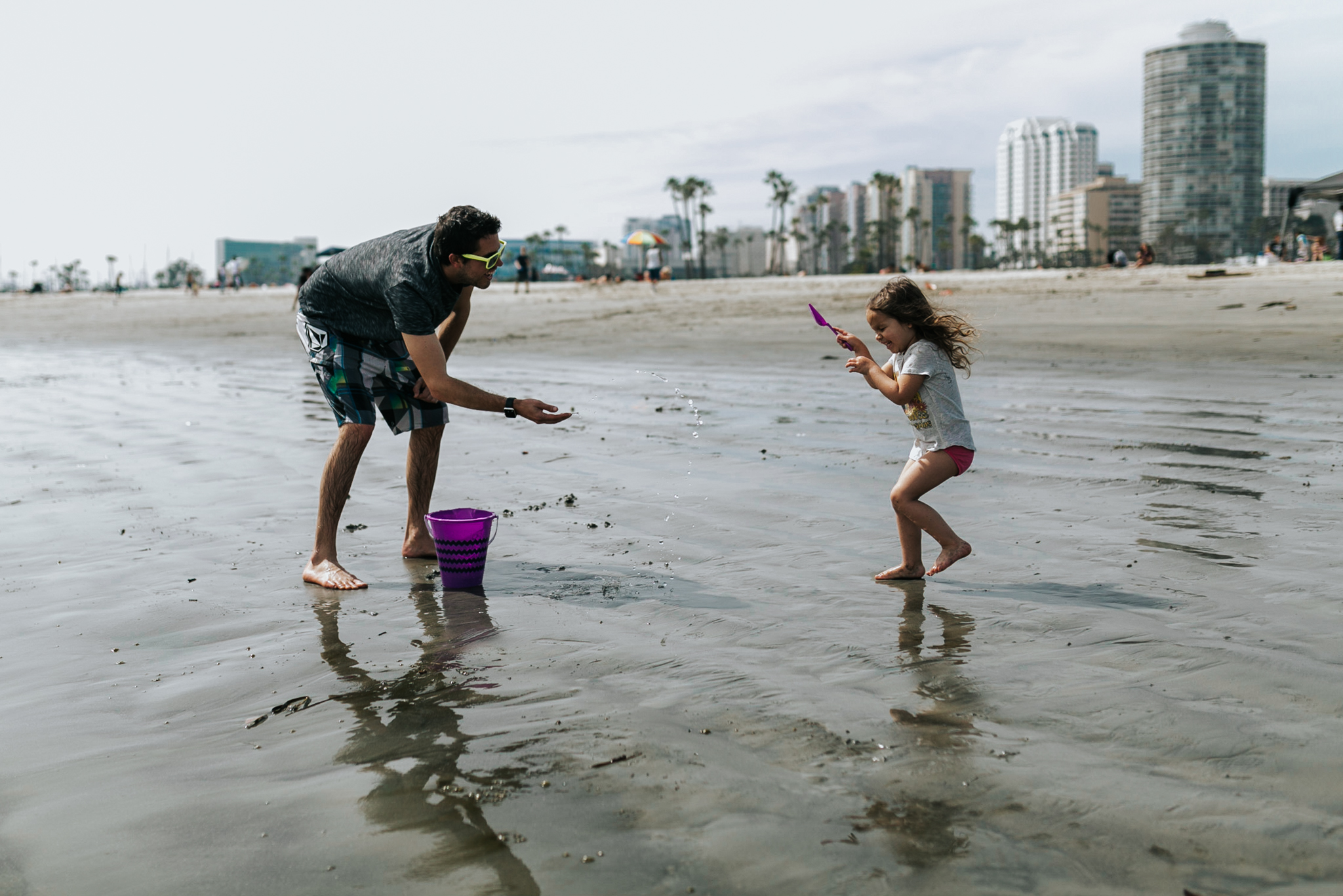 Fun with uncle at the beach