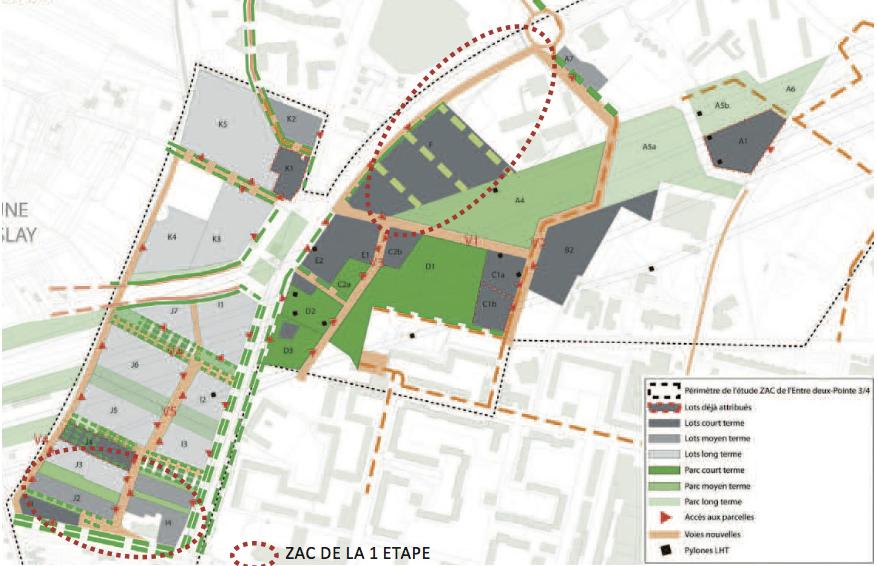 ZAC ENTRE DEUX/POINTE TROIS QUARTS SARCELLES (95) - 76 hectares