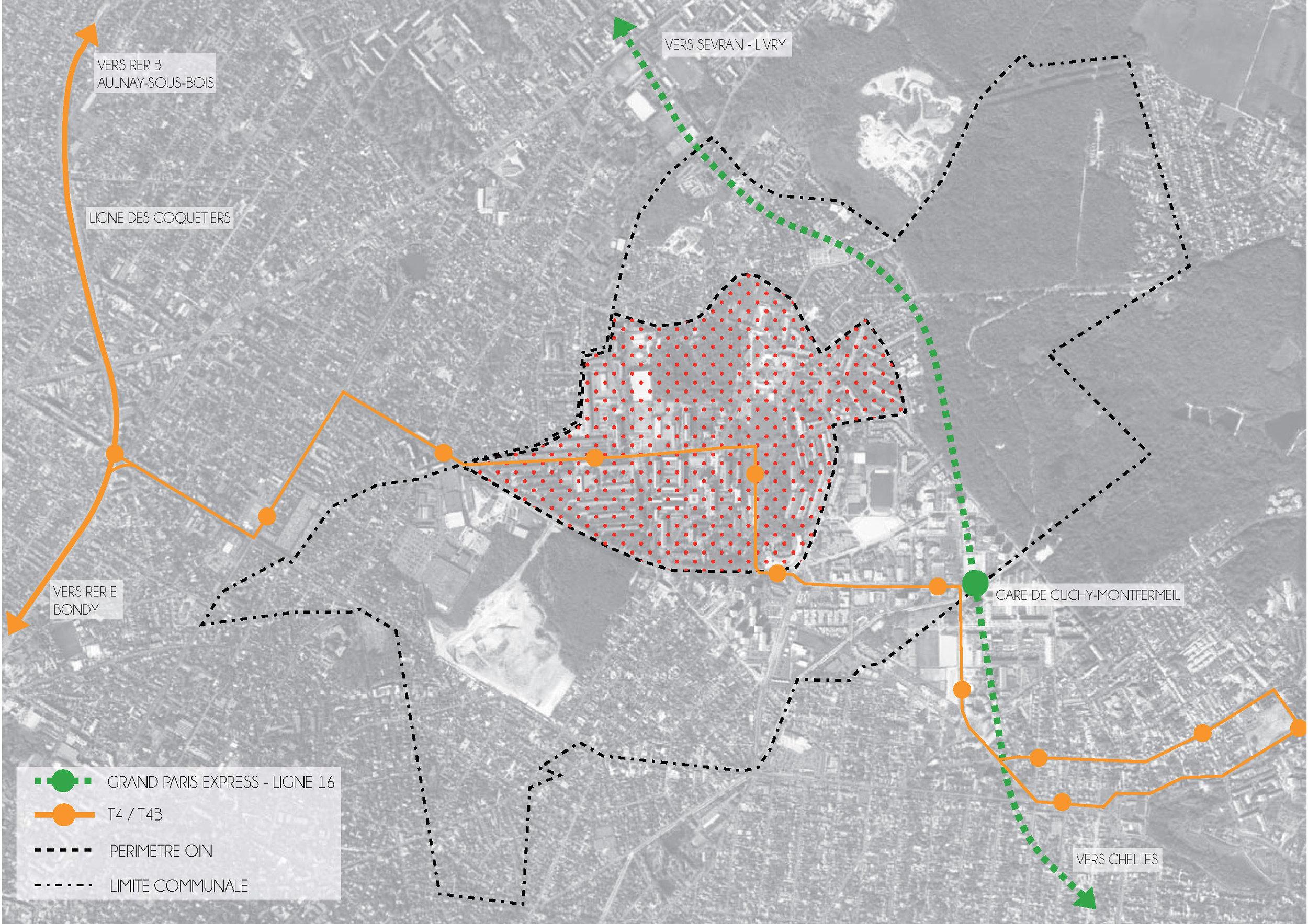 Plan de situation à l'échelle de l'agglomération