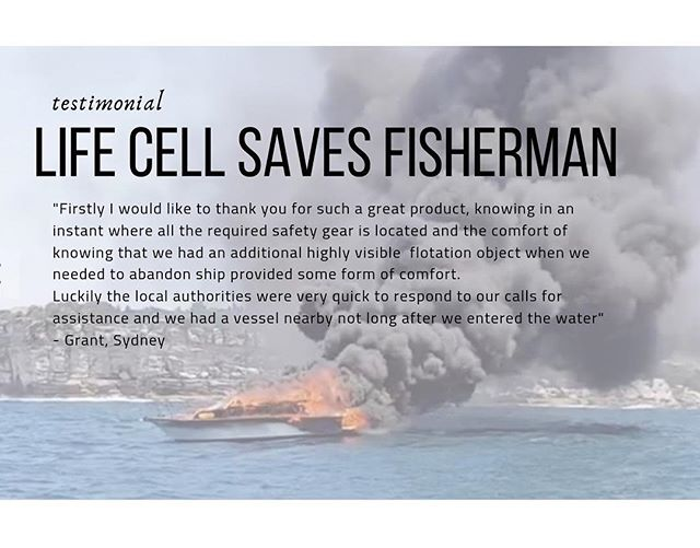 Life Cell saves group of fishermen from burning yacht on Sydney Harbour 🛥 #marinesafety