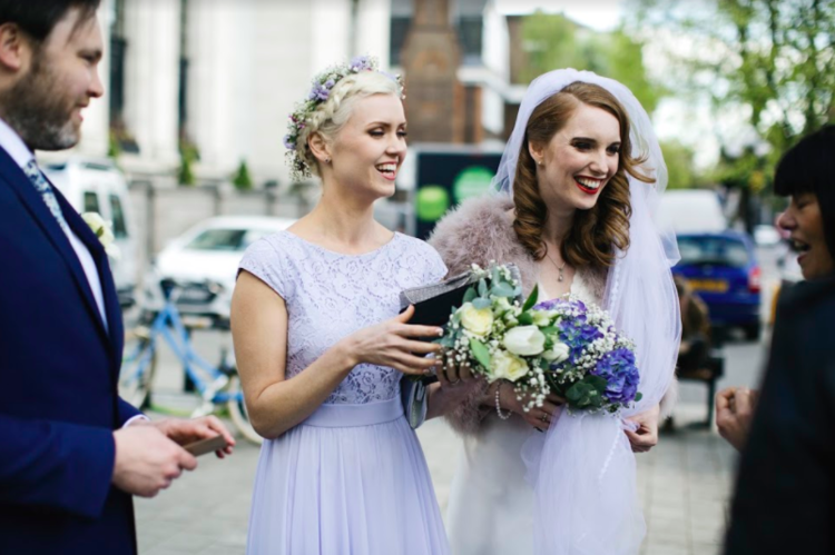 Did you catch last week's friday bride, heather? - Our cool bride walked down the aisle in an Iconic Collection dress