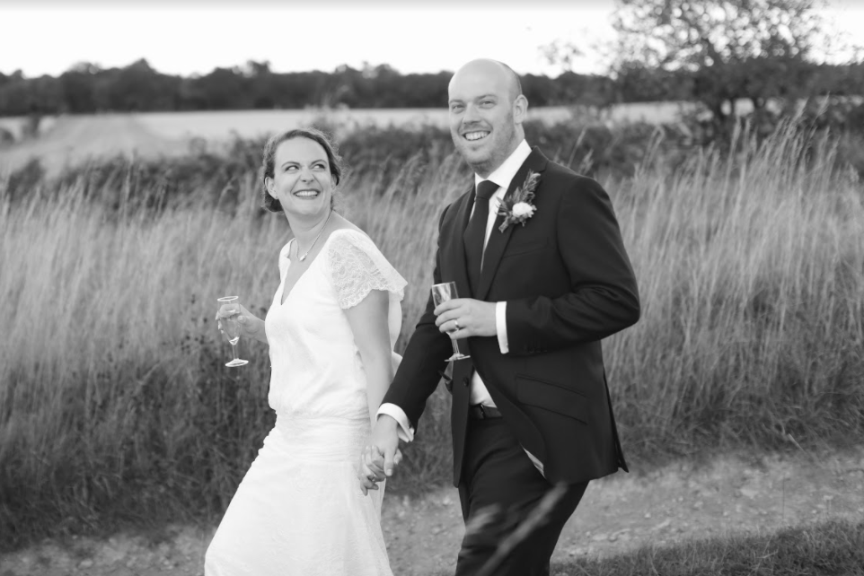 Erin WAS A VISION IN a Iconic Bridal collection dressBrowse our Bridal Iconic Collection to find a style like Erin's dress and see many more options -