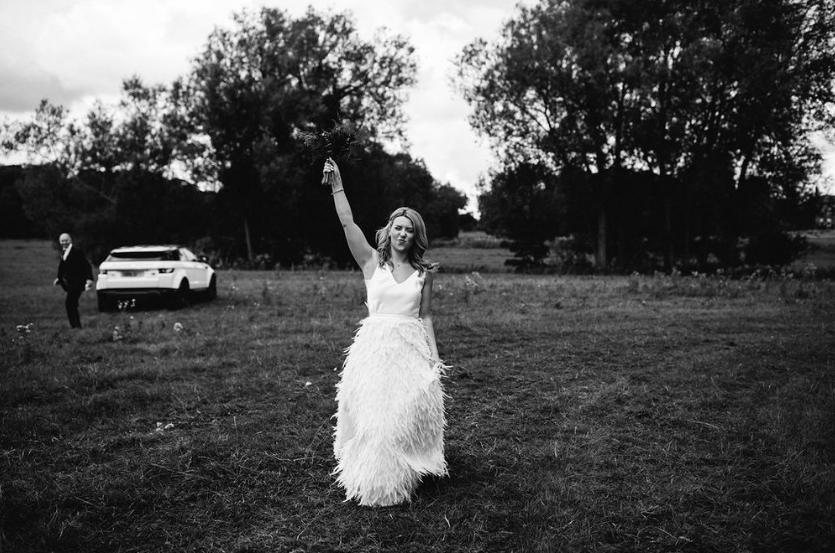 Did you catch last Month's friday bride, Kayleigh? - Our cool bride walked down the aisle in an Iconic Collection dress