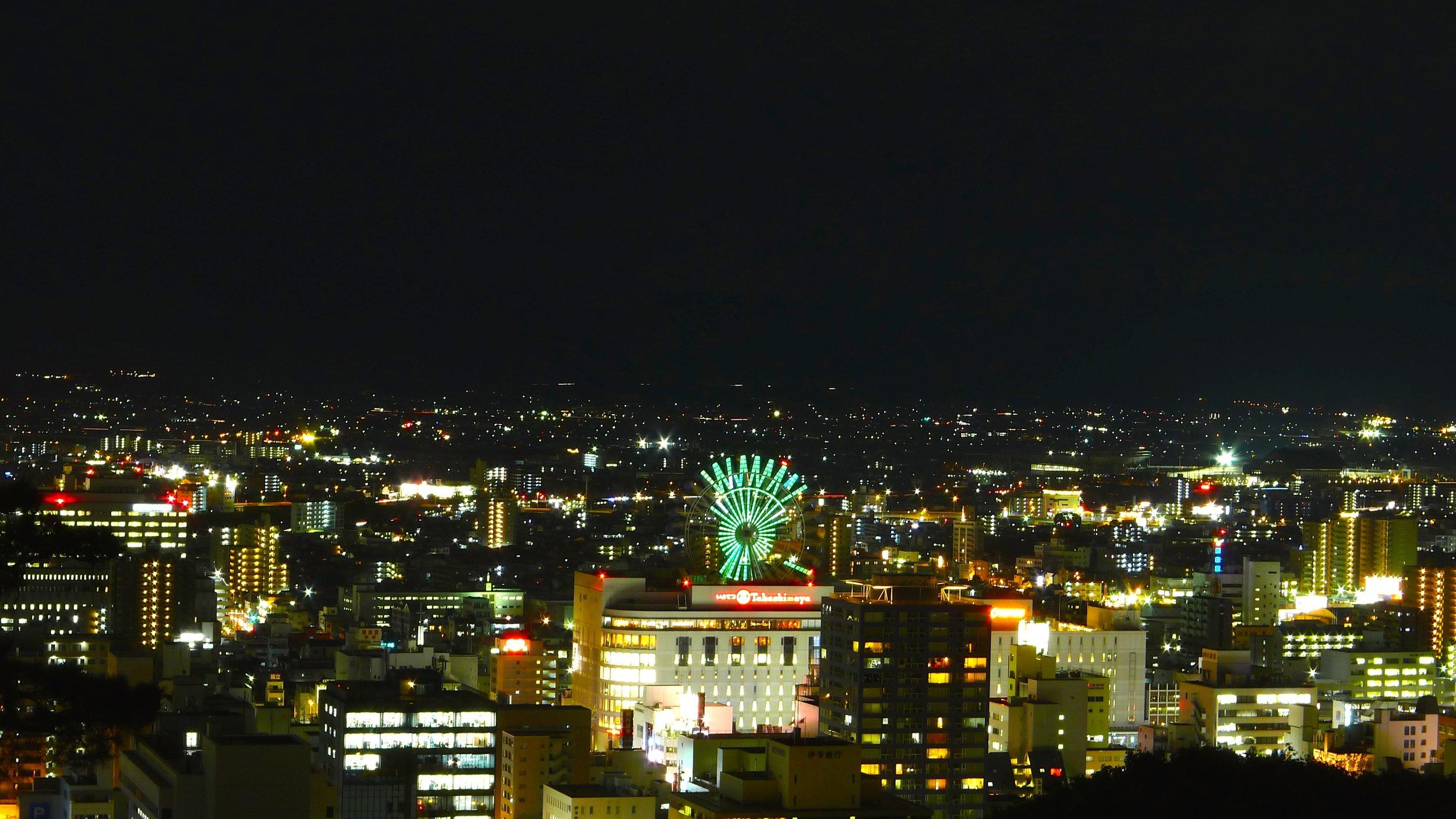 Matsuyama at Night.