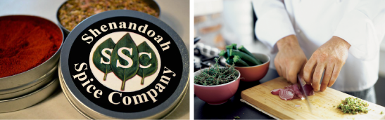 Shenandoah Spice Company Blends   Shenandoah Spice Company's recipes are pioneered in the spirit of old valley traditions using all natural herbs and spices. This company was founded by two young entrepreneurial guys that love and appreciate food. The business model was created while floating down the beautiful Shenandoah river and has been thriving ever since.