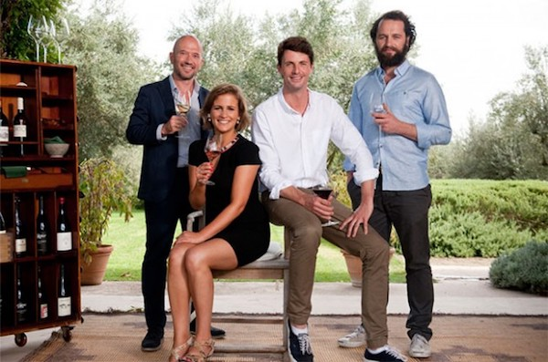 Amelia Singer with other hosts of The Wine Show. Photo credit:  The Wine Show .