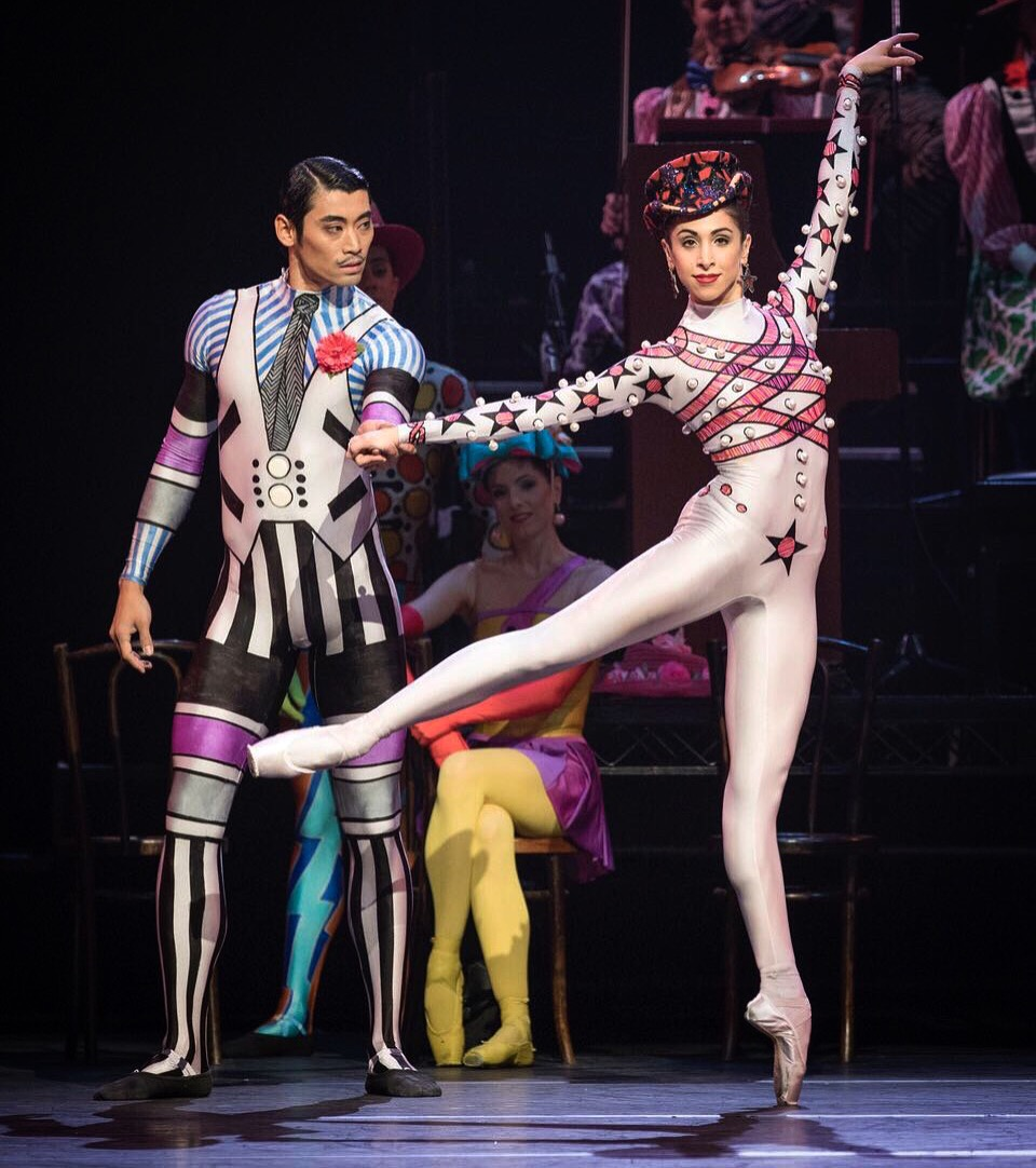 Yasmine Naghdi dancing the 'Bethena Waltz' with partner Rioichi Hirano in Sir Kenneth MacMillan's 'Elite Syncopations.' Photo credit: Andre Uspenski.