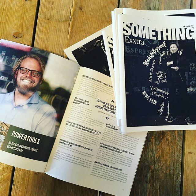 Something Exxtra! Mail naar Jolanda@exxtra.nl voor een gratis exemplaar:) #magazine #website #webshop #magento #wordpress #typo3