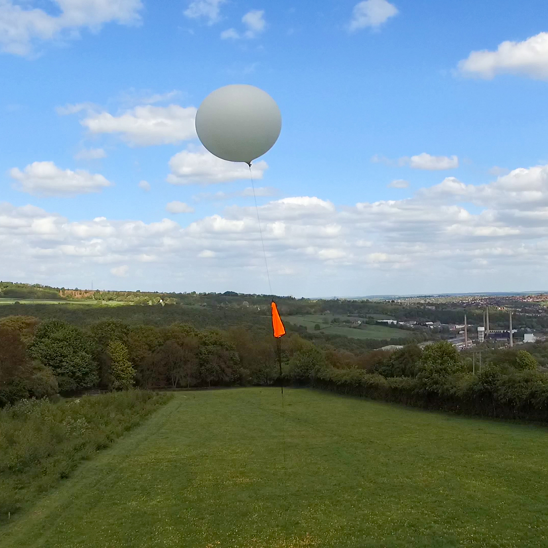 Near space balloon flight being launched from Sheffield