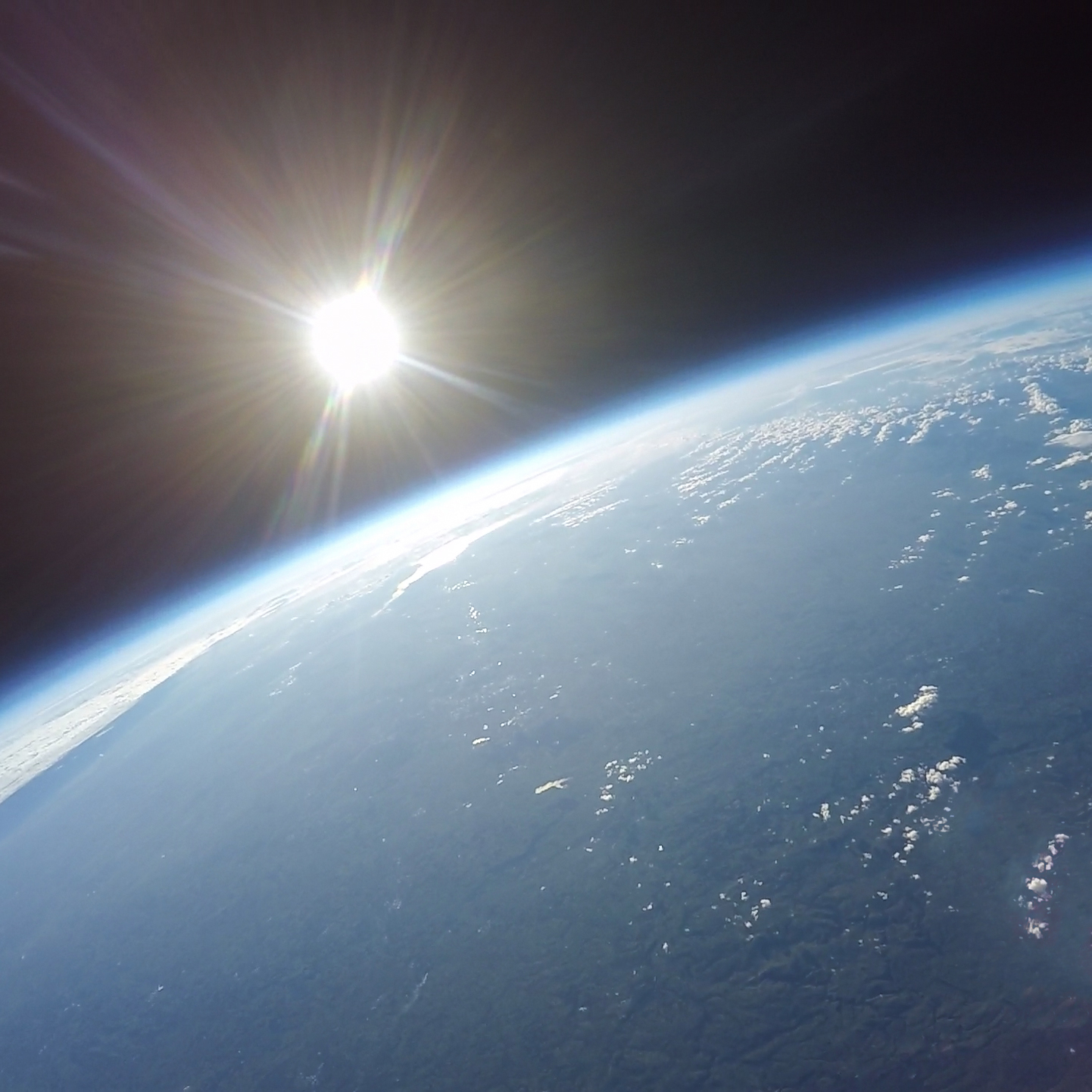 Aerial photograph of Earth as seen from space on a Near Space balloon flight