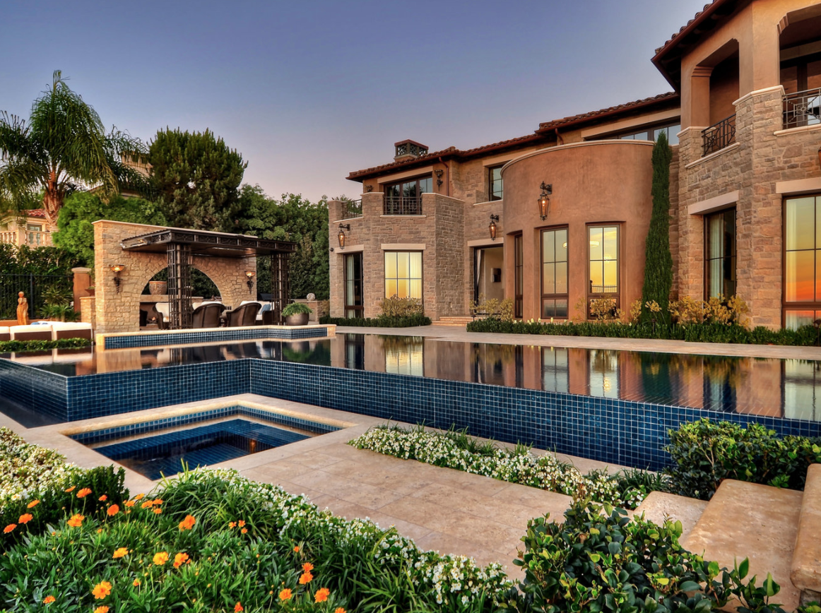 Swimming pool construction in pelican hill, CA