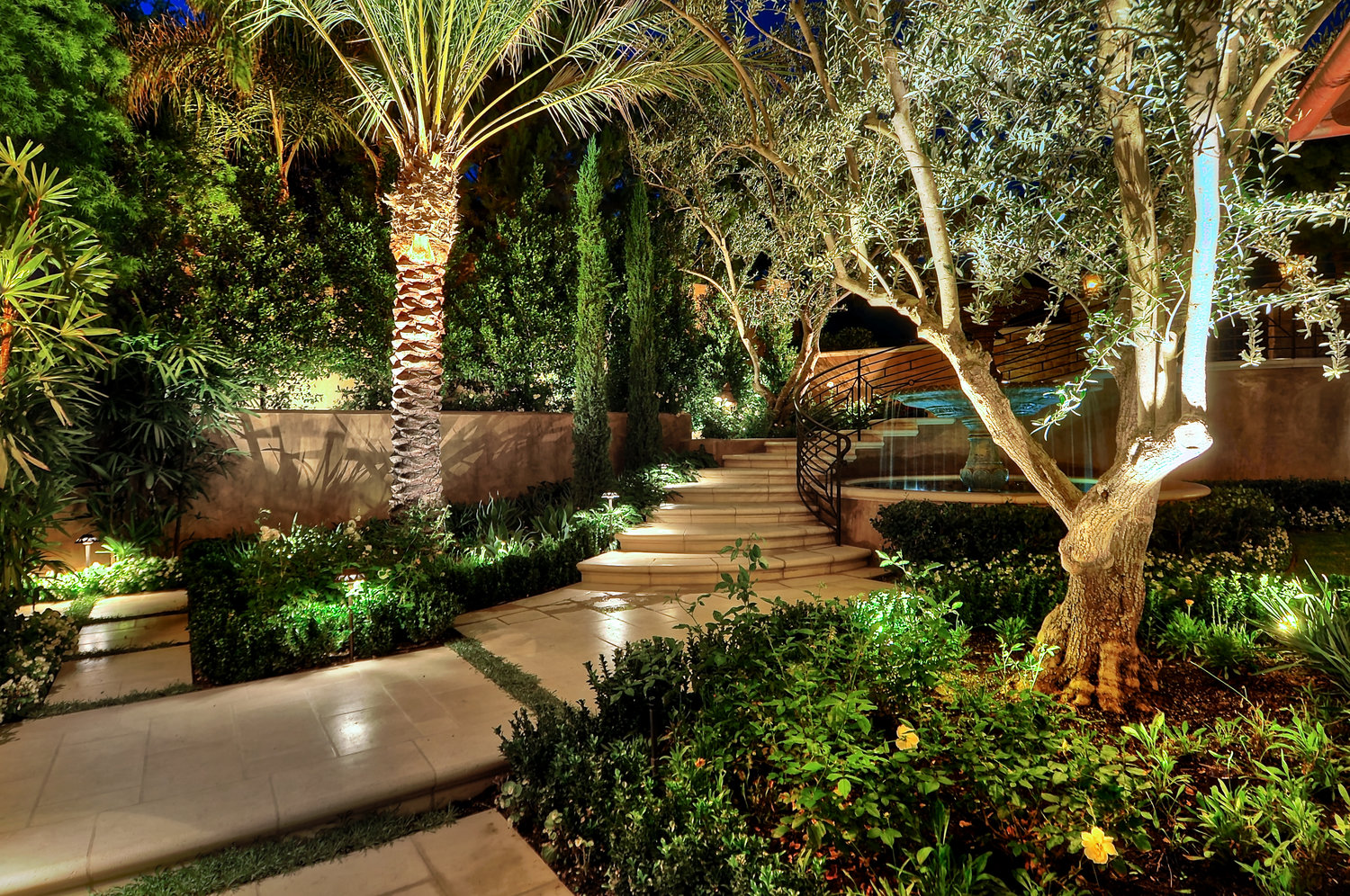 Landscape Construction that takes Advantage of the Natural Lay of the Land on Newport Beach, CA