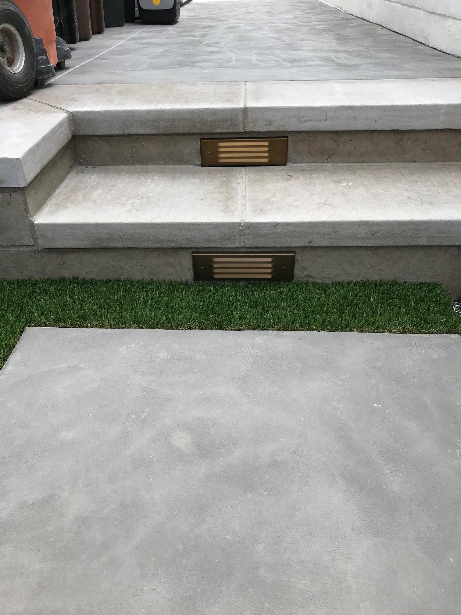 Concrete steps built after excavation work in Dana Point