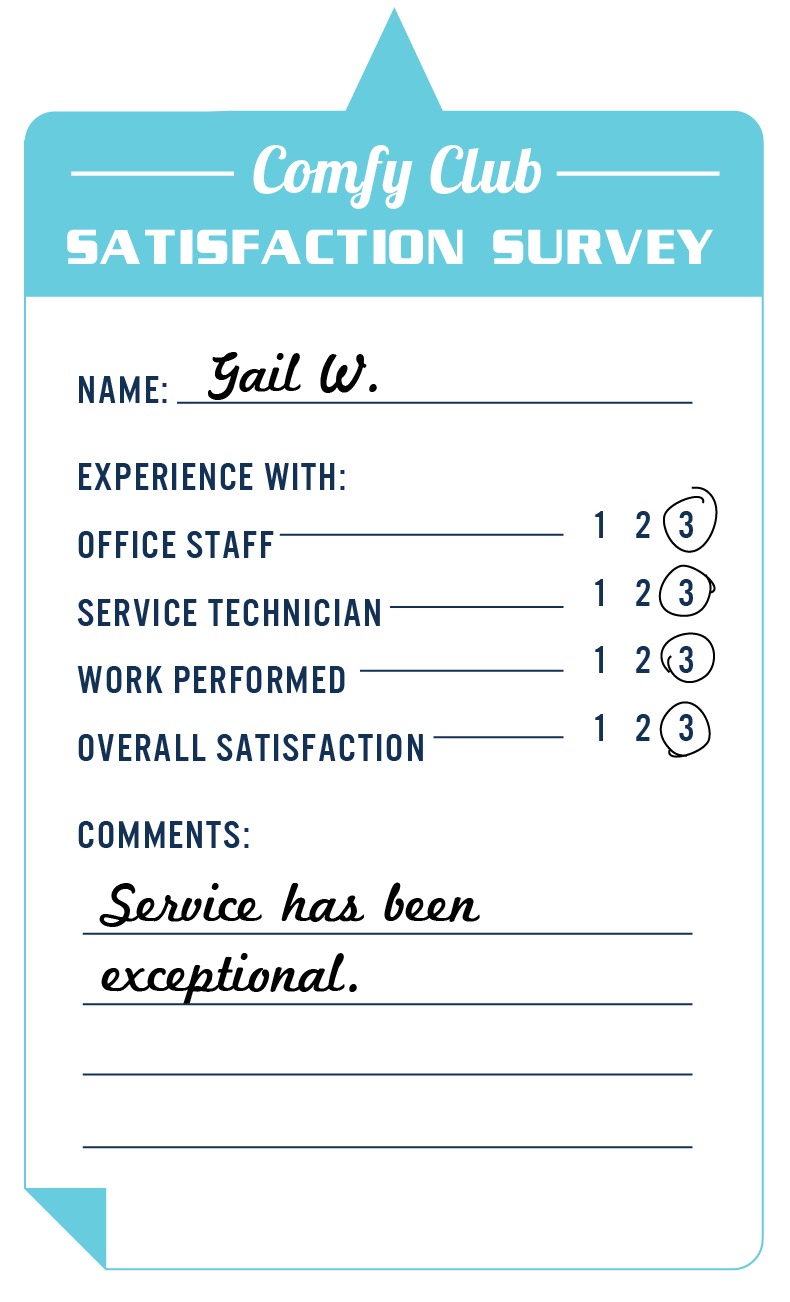 Service has been exceptional. - Gail W.