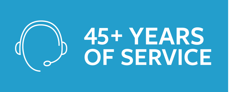 45+ Years of Service