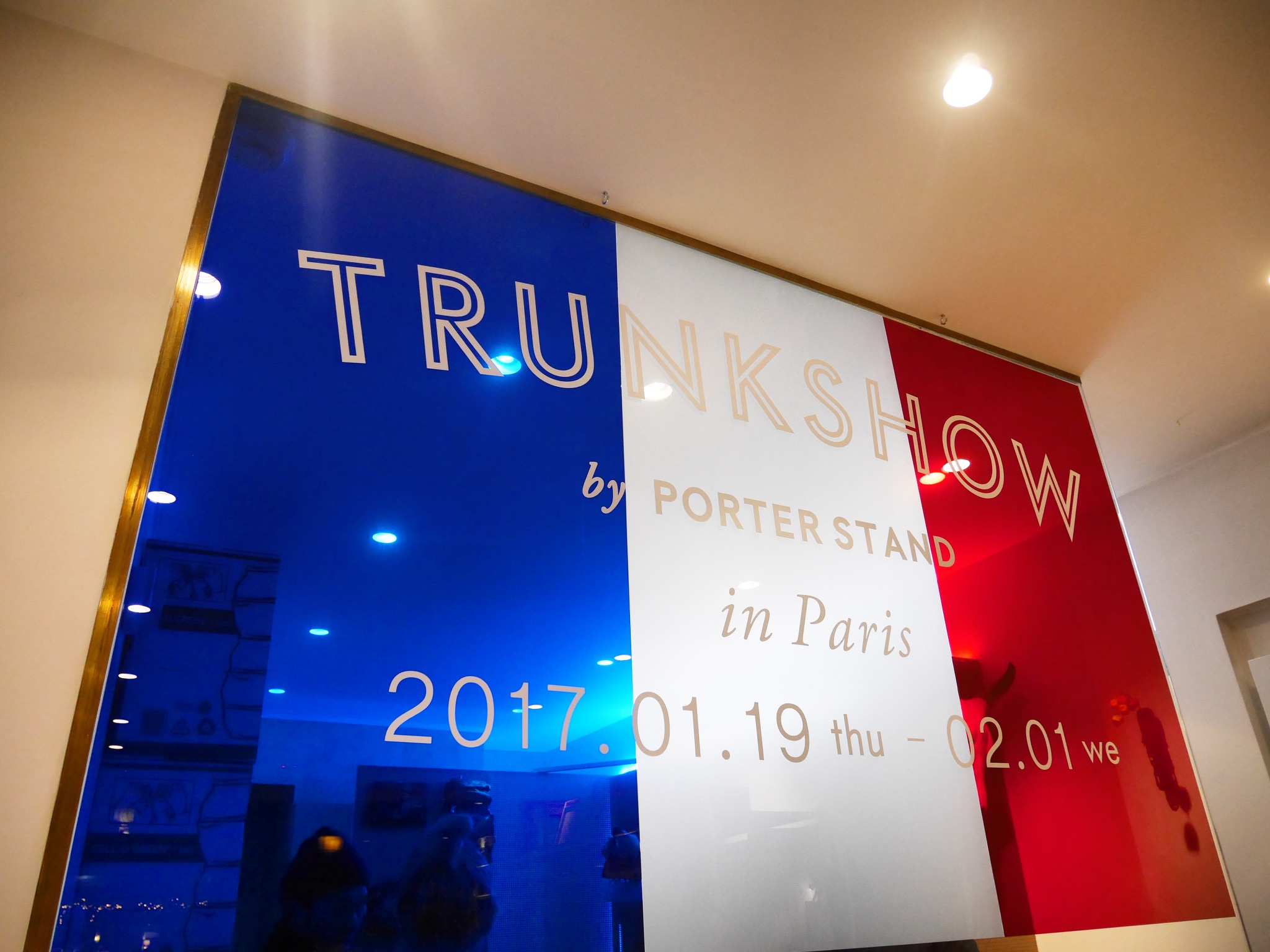 PORTER Yoshida Trunkshow sales even at Bows & Arrows in Paris
