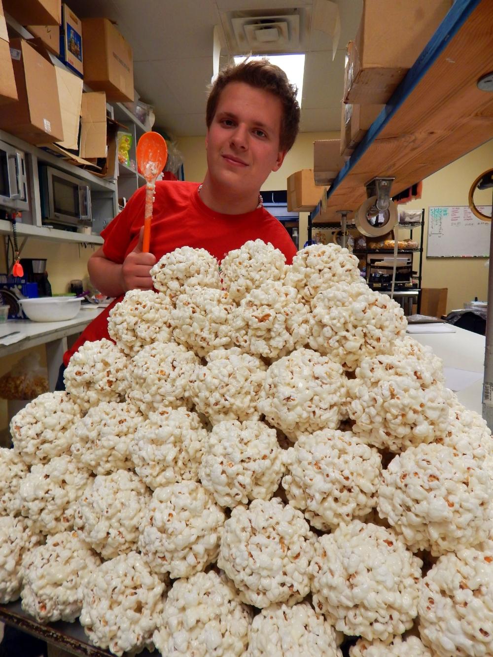 Our Popcorn Ball Machine