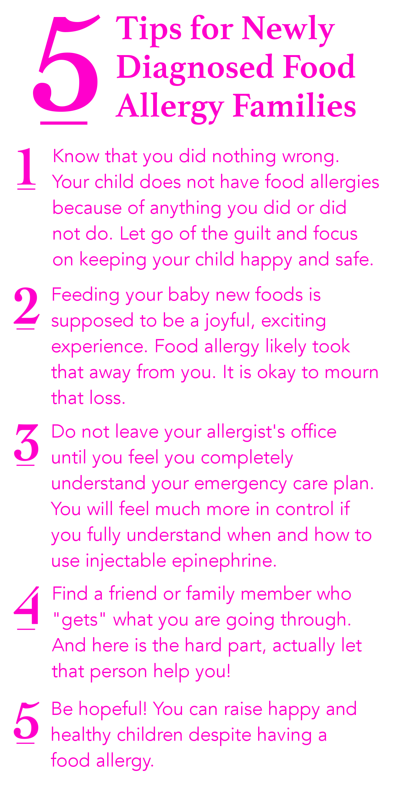 5 Tips for Newly Diagnosed Food Allergy Families