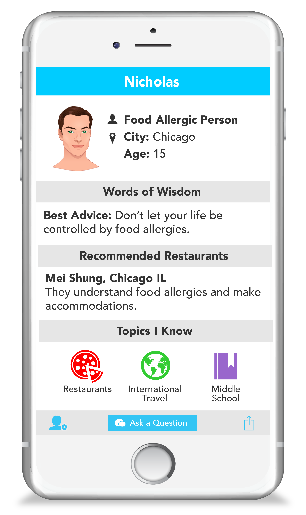 Spokin Profile Nick a teen traveling with food allergies