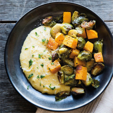 Cheesy Polenta and Roasted Veggies Recipe