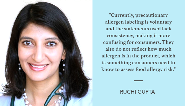 Dr. Ruchi Gupta is an associate professor of pediatrics at Northwestern University Feinberg School of Medicine and a physician at Ann & Robert H. Lurie Children's Hospital of Chicago.