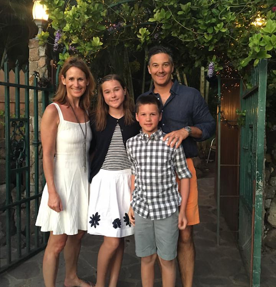 Expert Food Allergy Travel Advice Shawna Huffman and Family outside Alexander Hamilton House in West Indies