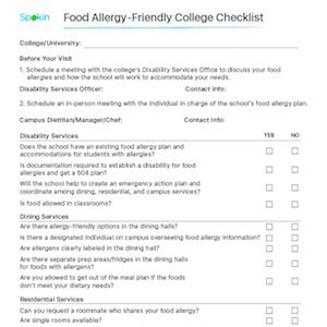 college campus checklist
