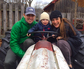 Nicole, Rob and their son, Emmett