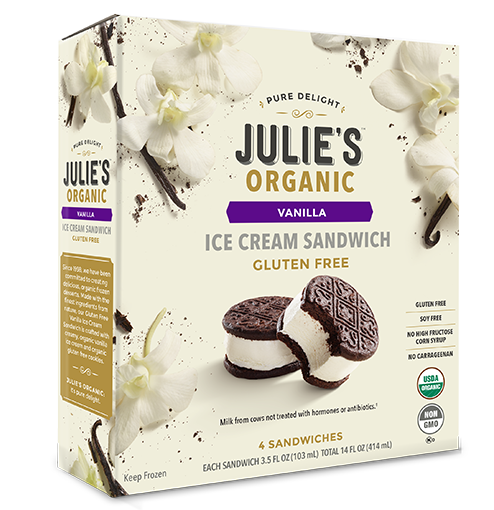 julie's food allergy friendly ice cream sandwich