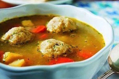 vegan gluten free matzo ball soup