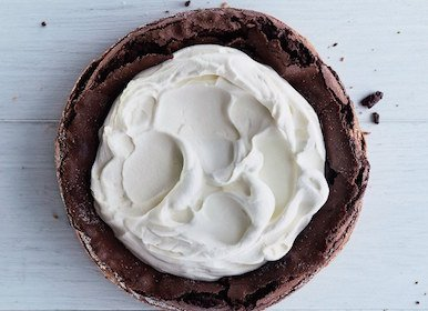 flourless fallen chocolate cake