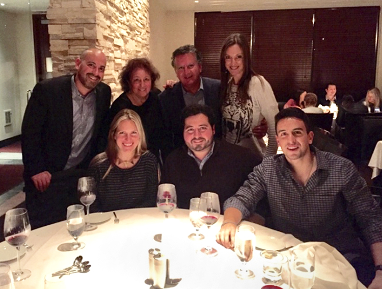 Josh with his family in Cleveland, OH