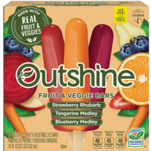 Nestle Outshine Strawberry Rhubarb, Tangerine, Blueberry Medley Fruit and Veggie Bars.png