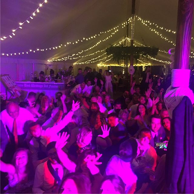 Lovely scenes at tonight's wedding!! Including the one more song, big circle and Dan the bouncer. What a wet time!! Also tacos AND pizza for food?!! Excellent. Congrats guys!! #wedding #festivalwedding #party #sheffieldwedding #tipi #marquee